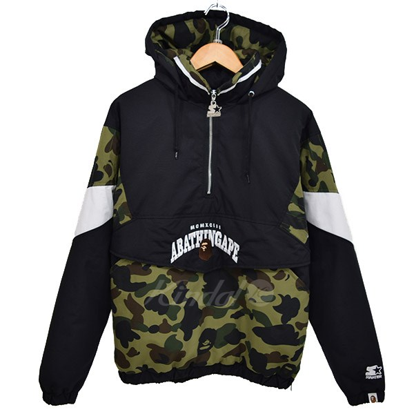 6cc2fe6f6427 x STARTER BLACKLABEL PULLOVER HOODIE JACKET 2018SS olive X black size  S