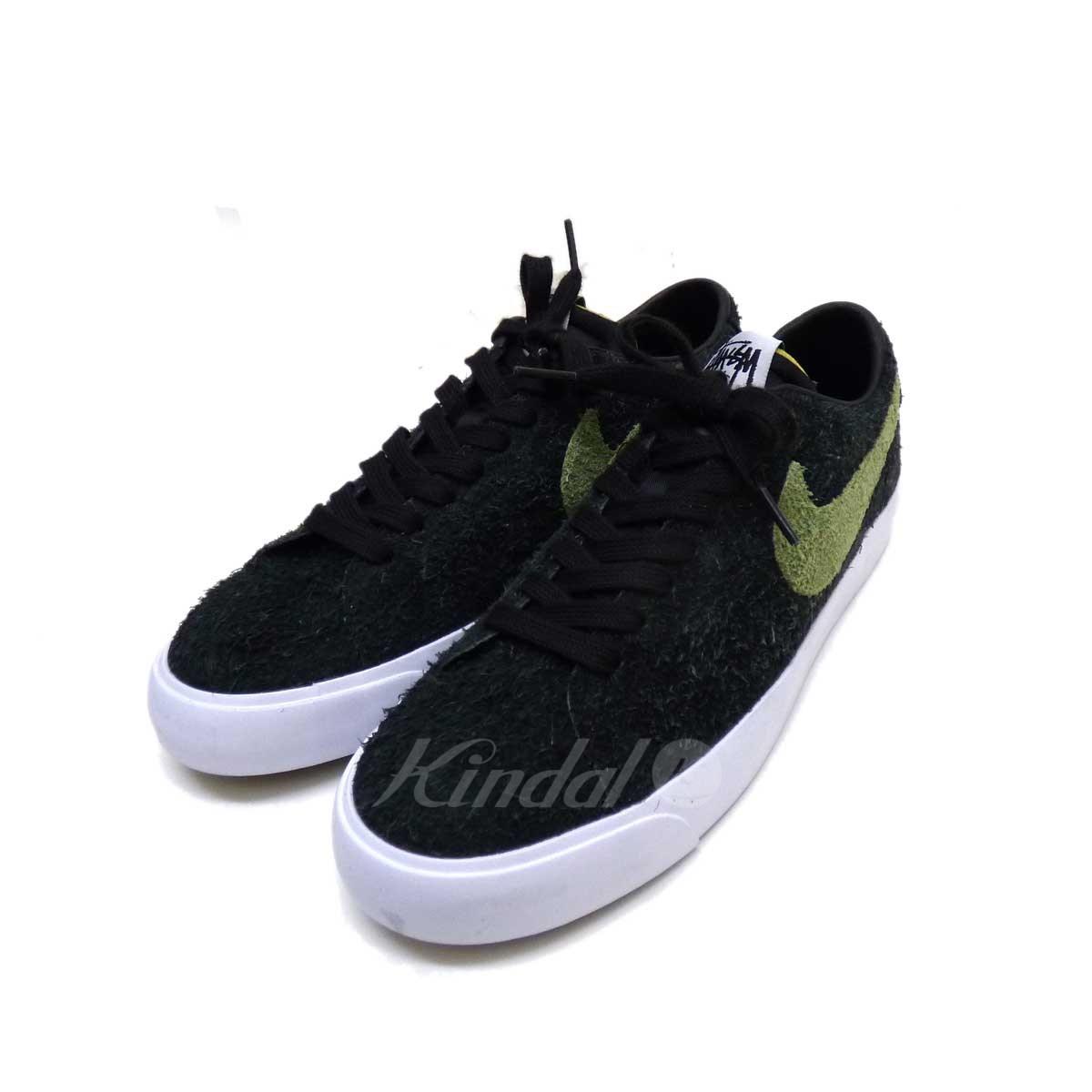 best website 2980a fe76b NIKE SB X STUSSY ZOOM BLAZER LOW QS sneakers moss-green size: 27
