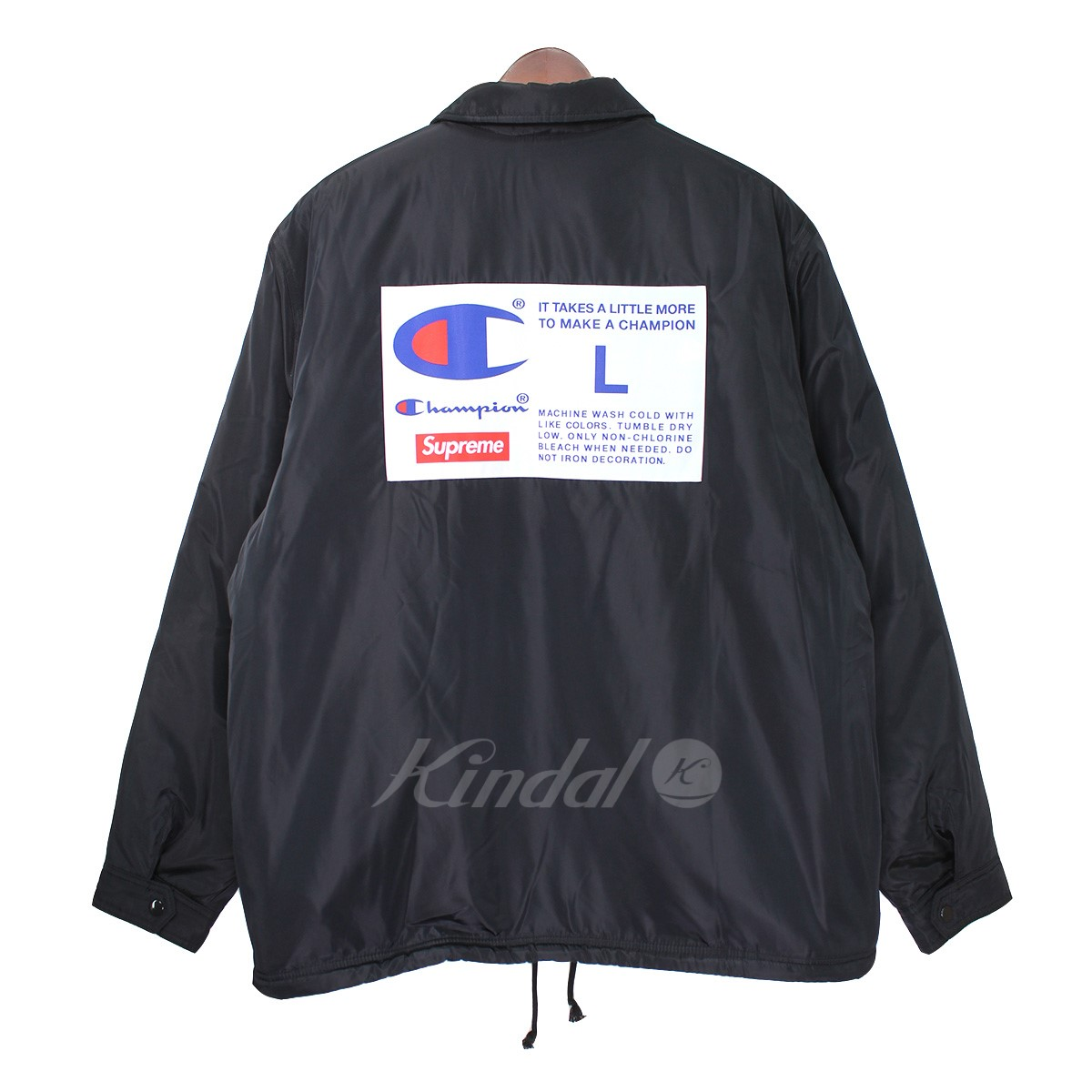 【中古】Supreme×Champion 18AW Champion Label Coaches Jacket バックロゴコーチジャケット 【送料無料】 【012828】 【KIND1641】