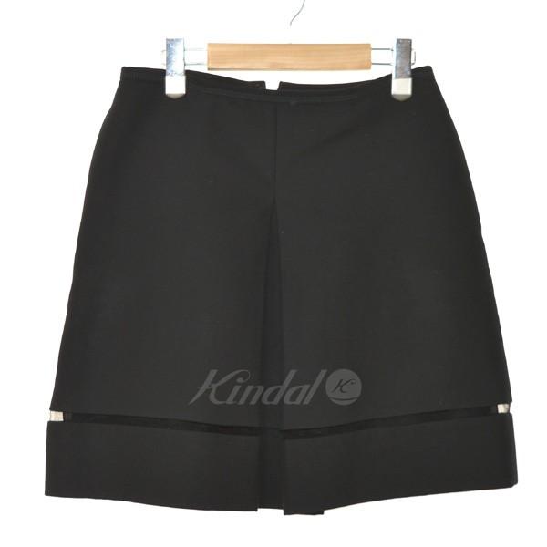 【5月23日 お値段見直しました】【中古】FENDIフロントスプリットタイトスカート ブラック サイズ:40