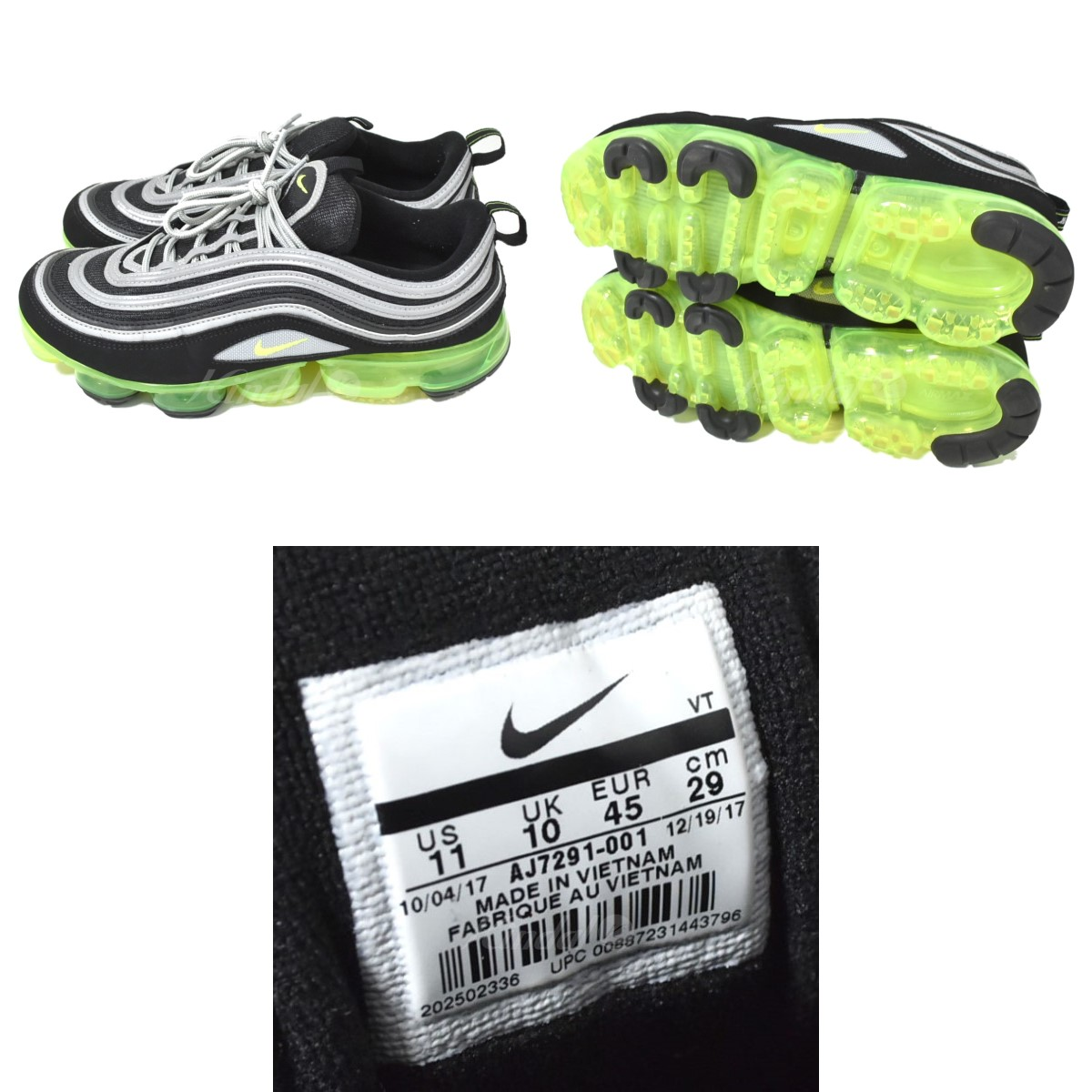 eddbefefc0 ... NIKE AIR VAPORMAX 97 sneakers black X yellow size: 29 0 (Nike) ...