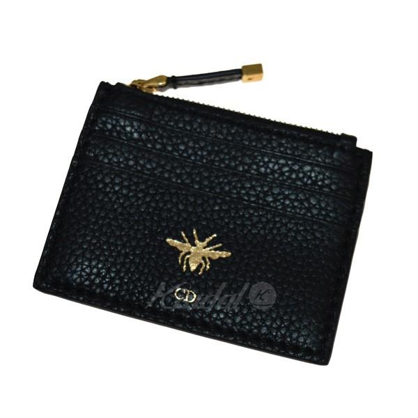 【中古】Christian Dior BEEモチーフ カード・コインケース 【送料無料】 【163263】 【KIND1641】