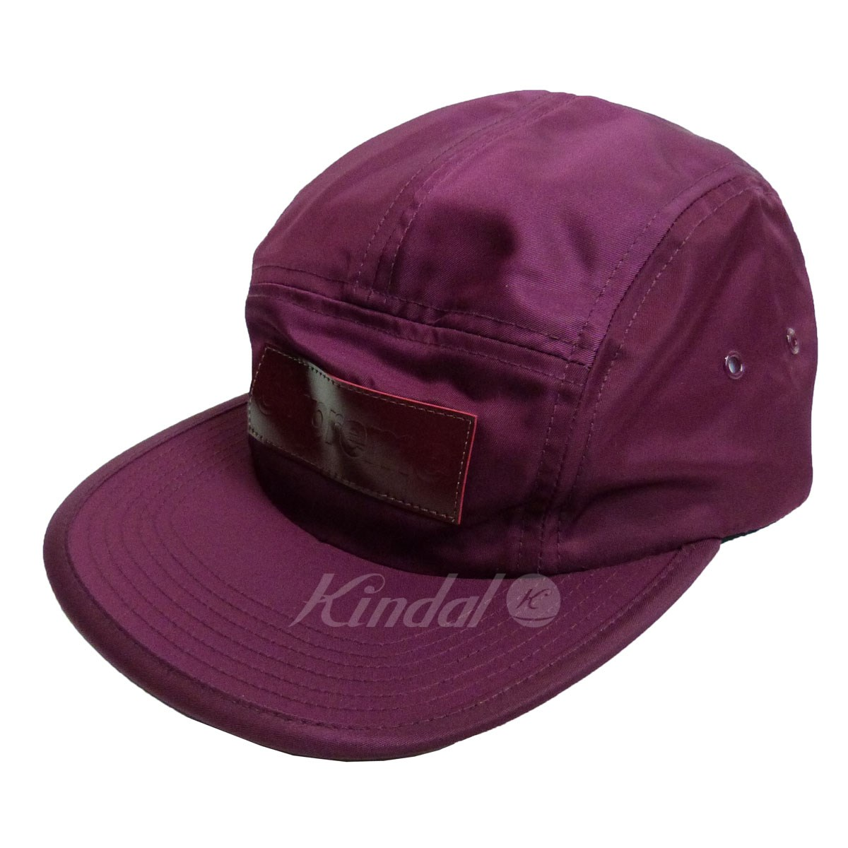 【中古】SUPREME 18AW 「Patent Leather Patch Camp Cap」 キャップ 【送料無料】 【063038】 【KIND1641】