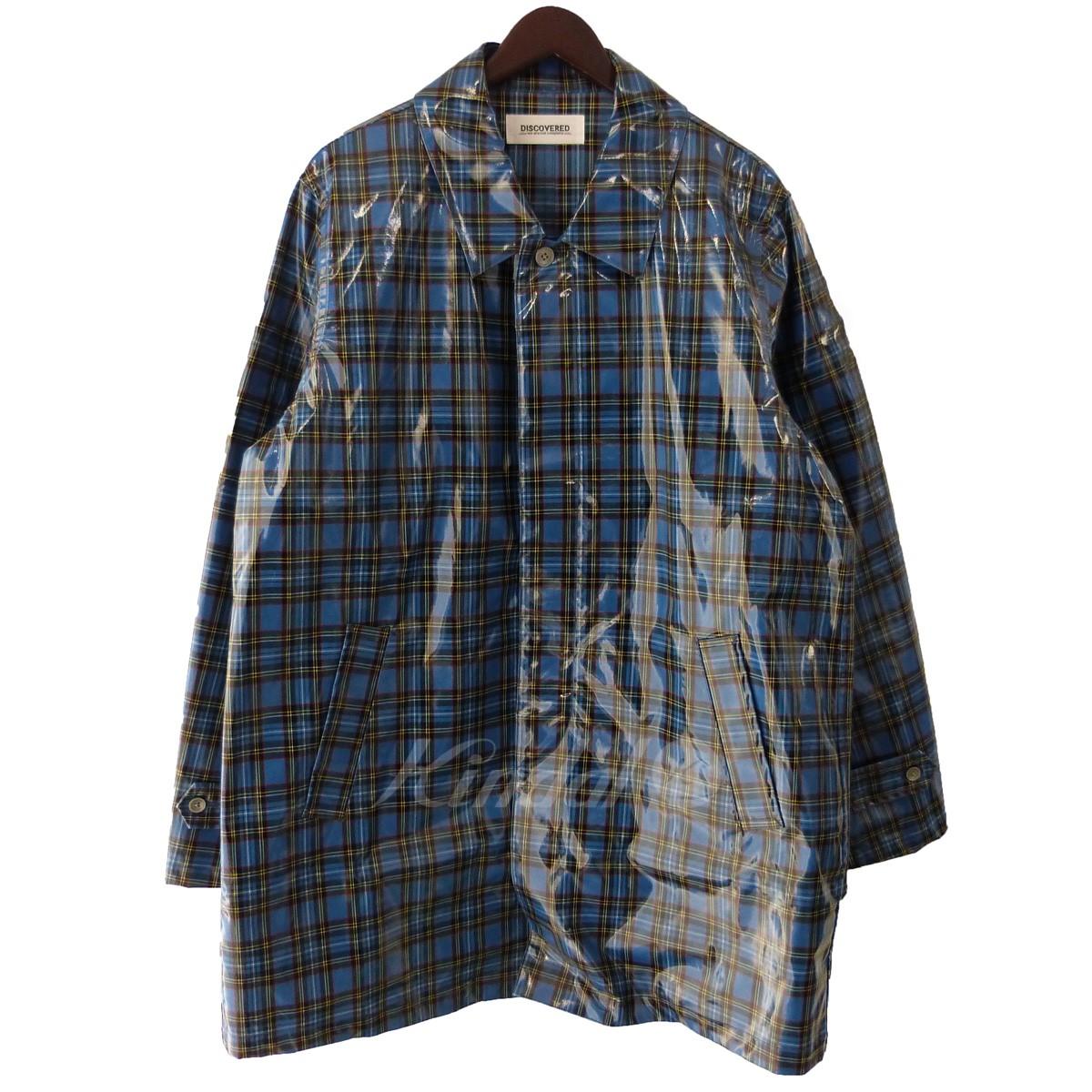 【中古】DISCOVERED 18AW 「PVC coat shirt」PVCチェックシャツコート ブルー サイズ:3 【送料無料】 【030219】(ディスカバード)