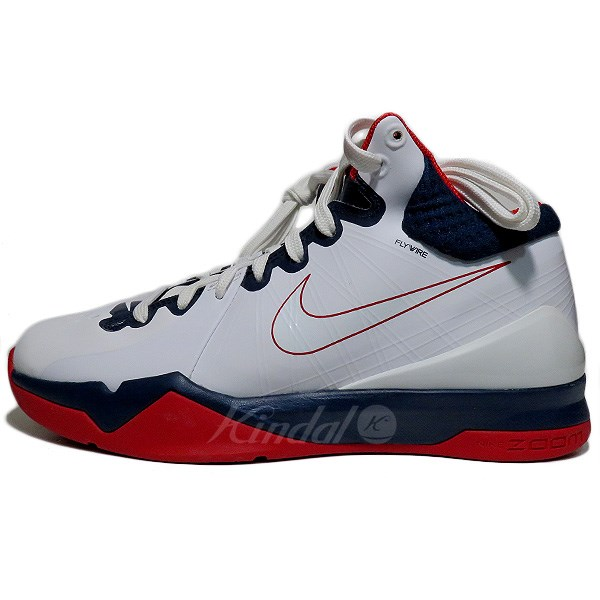 df7ab511be94 kindal  NIKE AIR ZOOM BRAVE V sneakers white   navy   red size  25 ...