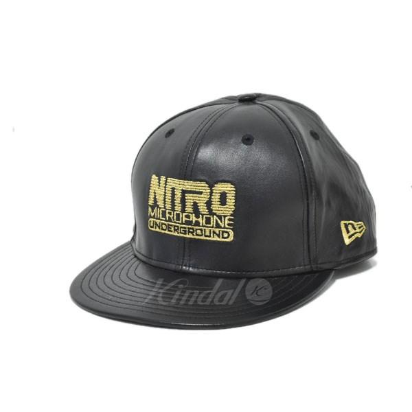 【中古】NITROW NEW ERA レザーキャップ ブラック サイズ:7 1/2 【送料無料】 【050219】(ナイトロー)