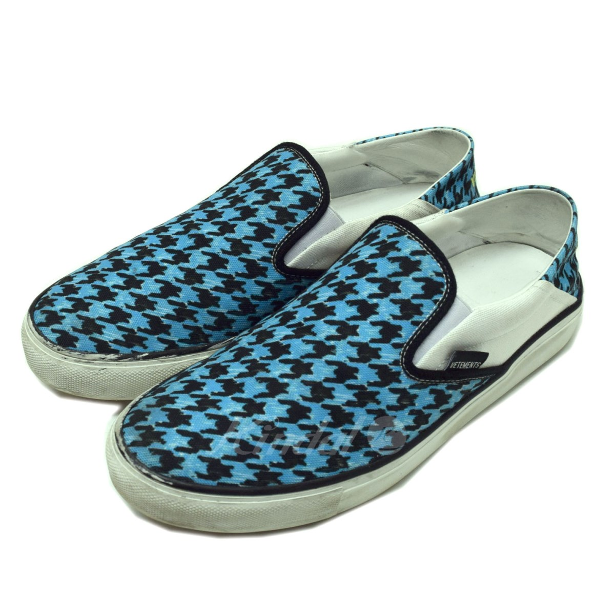 de923b4046a0 VETEMENTS 2018SS cross-woven lattice slip-ons light blue size  41 (ヴェトモン)