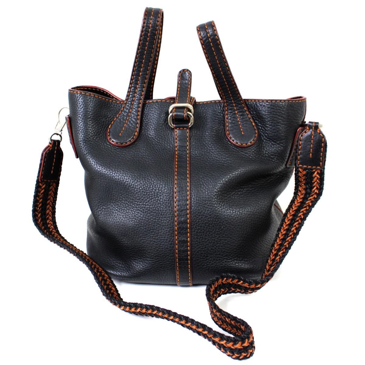 【中古】TODS 2WAY レザーバッグ かばん ブラック サイズ:- 【送料無料】 【080219】(トッズ)