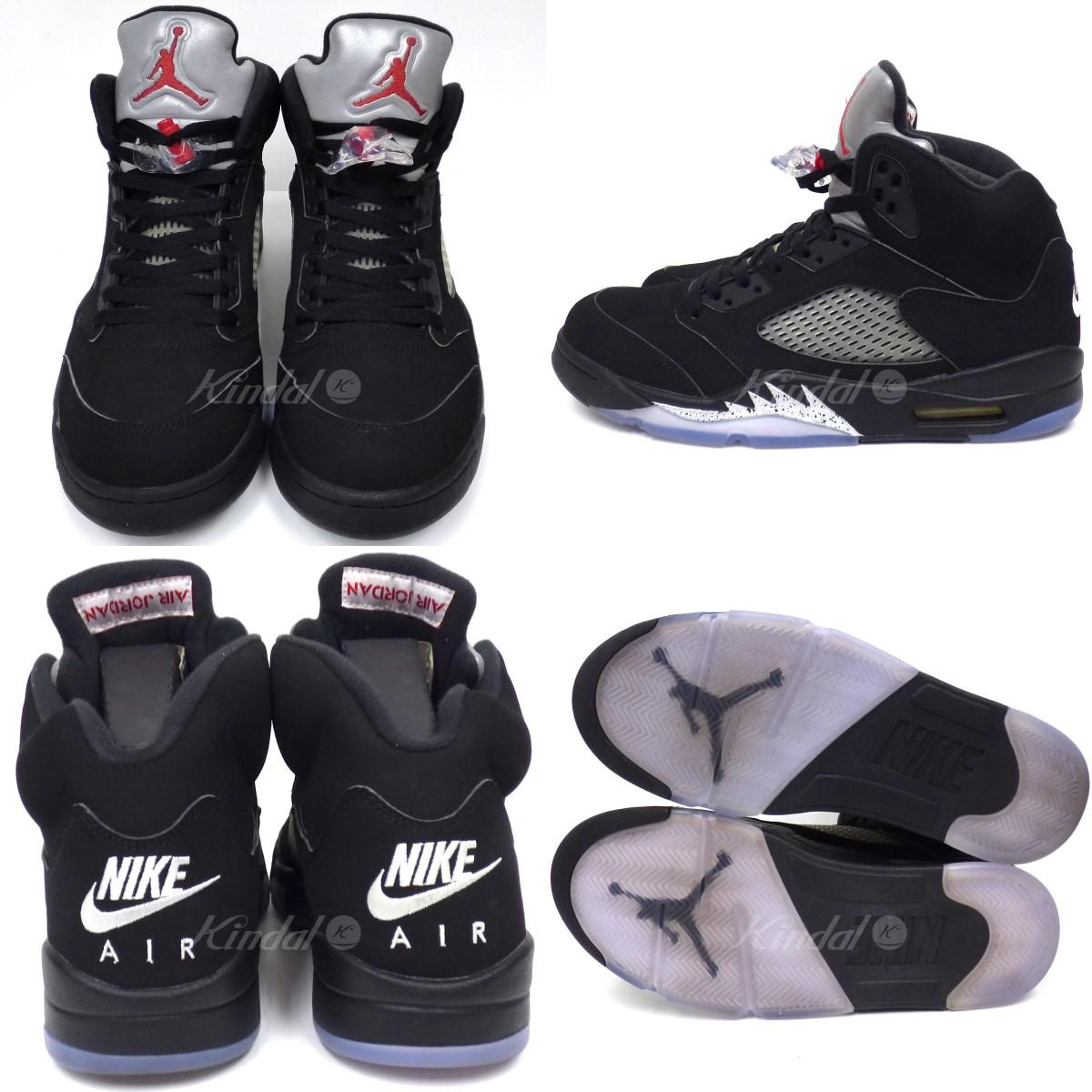 2a2155c2ff2ab5 kindal  NIKE Air Jordan 5 Retro OG Black Metallic空气乔丹运动鞋黑色 ...