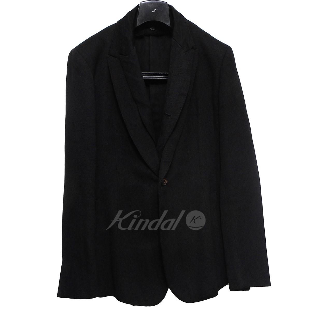 【中古】JULIUS フェイクレイヤードピークド1Bジャケット ブラック サイズ:JK:3 PA:2 【送料無料】 【090219】(ユリウス)