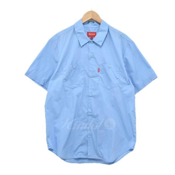 【中古】SUPREME 16SS Mary Work Shirt シャツ ブルー サイズ:S 【送料無料】 【110219】(シュプリーム)