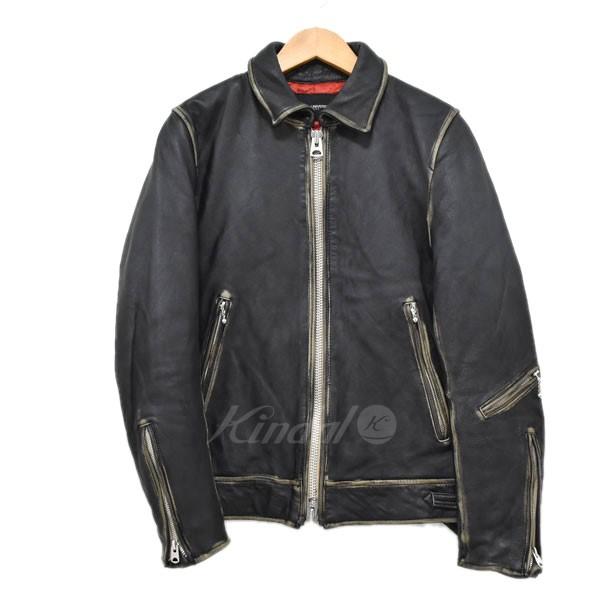 【中古】nano universe 16AW シングルライダースジャケット ブラック サイズ:S 【送料無料】 【110219】(ナノユニバース)