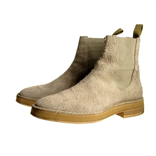 a7a441d5fca61 YEEZY SEASON 6 18SS CHELSEA BOOT suede cloth Chelsea boot side Gore ivory  size  43 (easy season six)