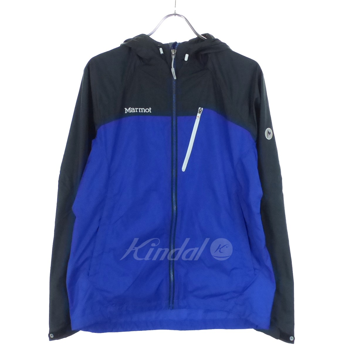 Marmot HEAT NAVI SHELL JACKET running jacket MJJ-F1003 blue X black size:  large
