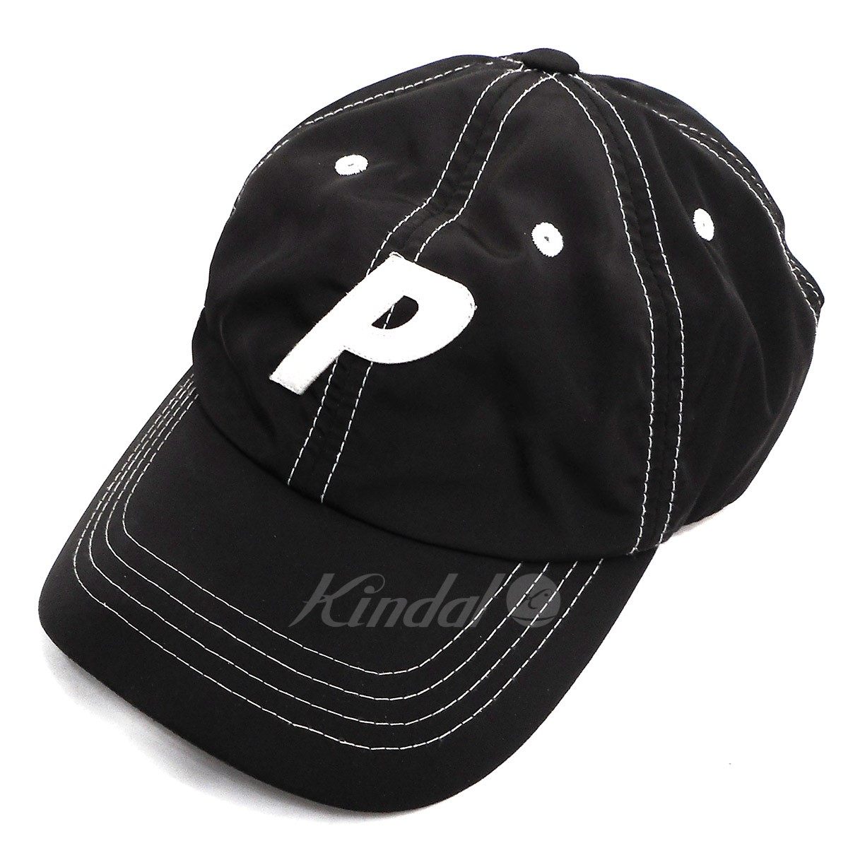 b4ae030a7b7 kindal  PALACE P 6-PANEL logo baseball cap black (palace)