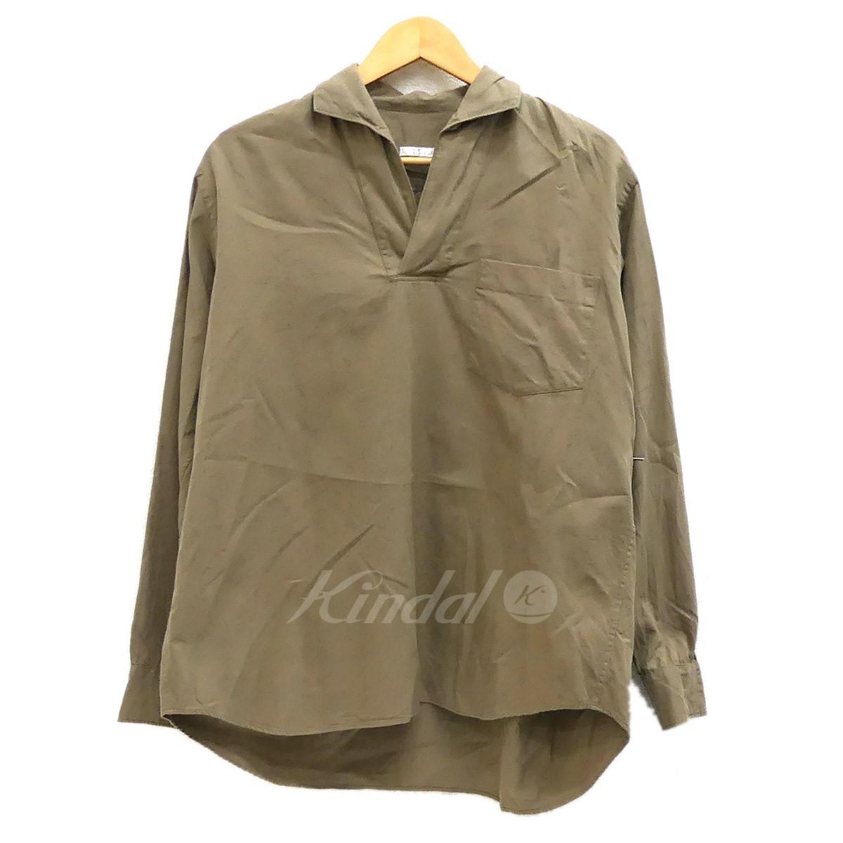 【中古】COMOLI 2016AW スキッパーシャツ ベージュ サイズ:1 【120219】(コモリ)