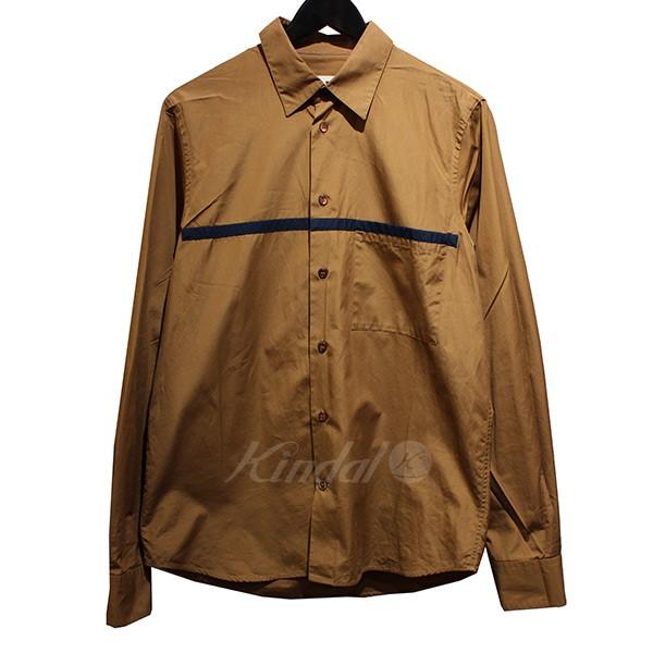 【中古】MARNI 2016SS コットンシャツ ライン切替シャツ 【送料無料】 【013495】 【AO1648】