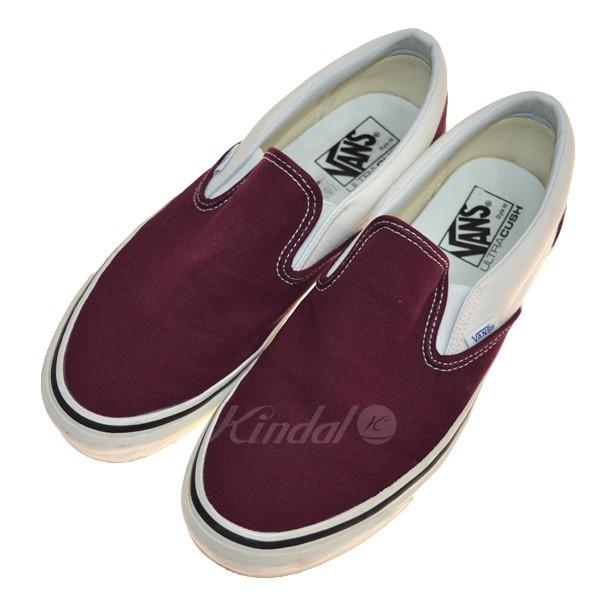 19877bc018 kindal  VANS CLASSIC SLIP-ON 98 DX sneakers burgundy size  28cm ...