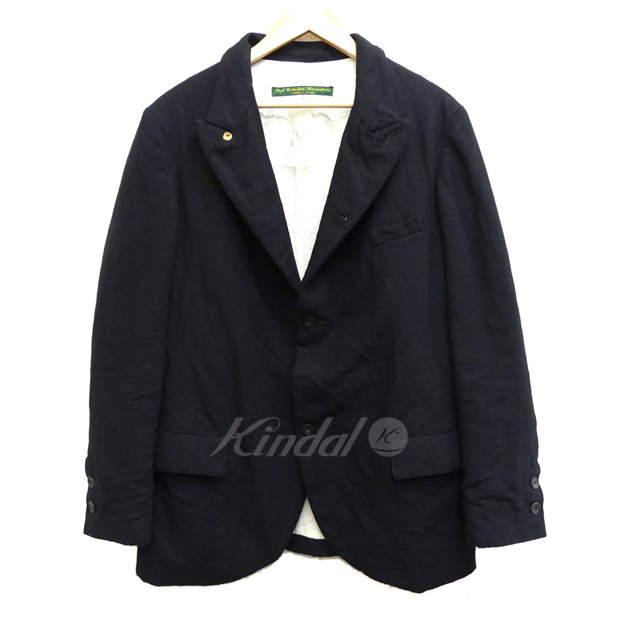 【中古】PAUL HARNDEN Mens Norfolk Jacket メンズノーフォークジャケット ウール50×リネン50 ブラック サイズ:S 【送料無料】 【140219】(ポールハーデン)