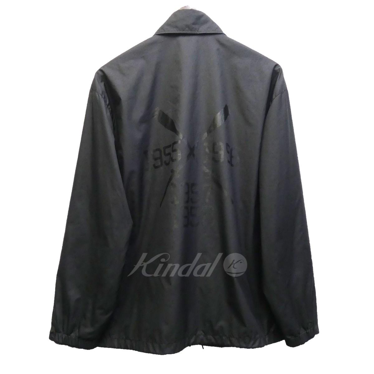 【中古】N.HOOLYWOOD 15SS バックプリントコーチジャケット ブラック サイズ:36 【送料無料】 【130219】(エヌハリウッド)