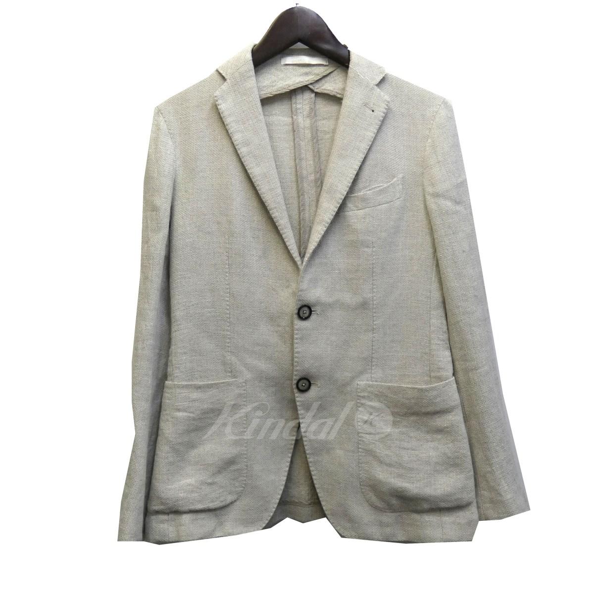 【中古】TAGLIATORE リネン混テーラードジャケット グレー サイズ:42 【送料無料】 【130219】(タリアトーレ)