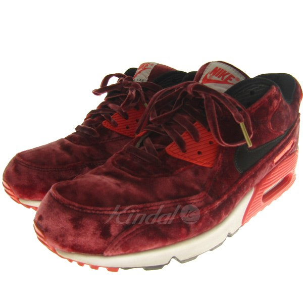 separation shoes 43435 033bd NIKE 15SS AIR MAX 90 ANNIVERSARY VELVET Air Max 90 sneakers gym red size   28. 5cm (Nike)