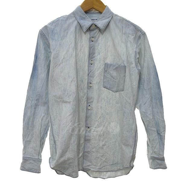 【4月18日 お値段見直しました】【中古】COMME des GARCONS SHIRT18AW ブリーチシャツ インディゴ サイズ:XS