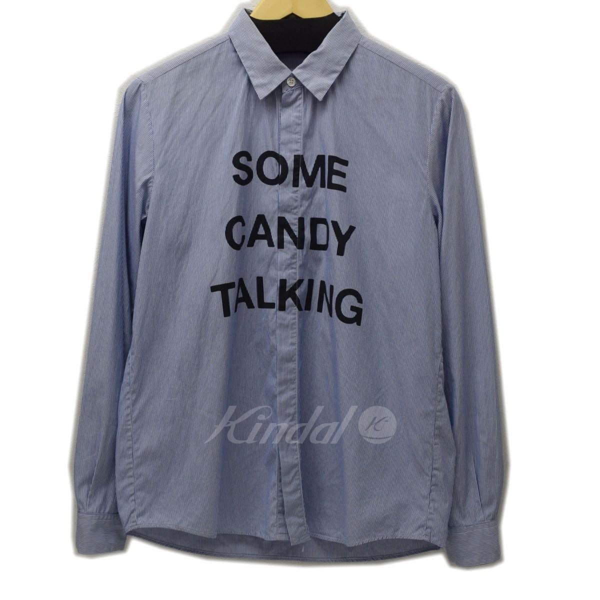 【中古】UNDER COVER ISM 2014SS SOME CANDY TALKING ストライプシャツ ブルー サイズ:1 【送料無料】 【230219】(アンダーカバーイズム)