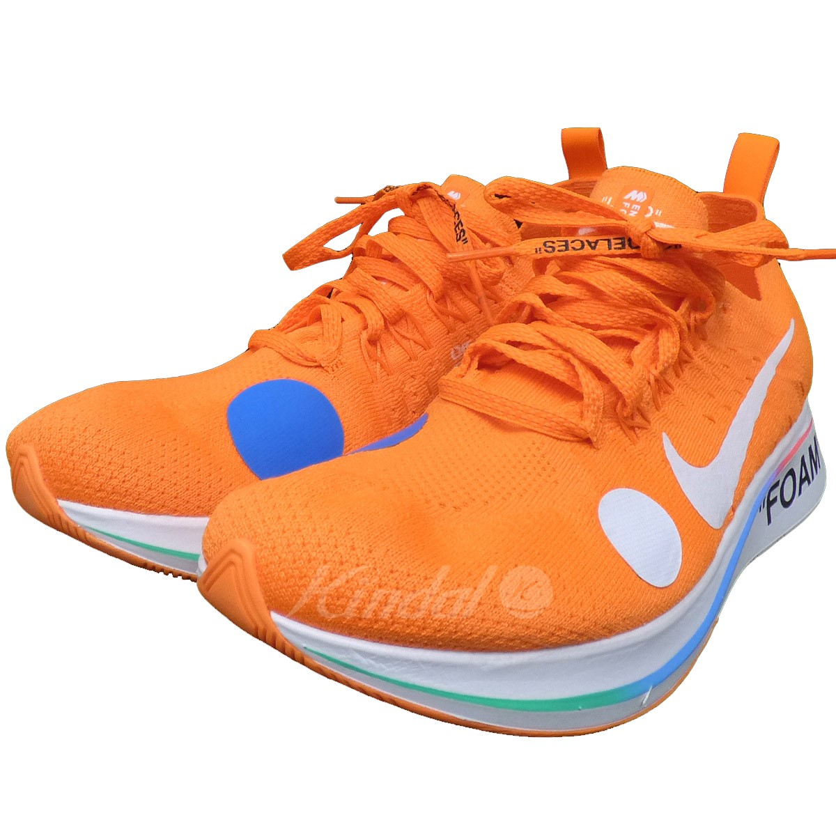 new arrival b3def 8bd3d OFF WHITE X NIKE Zoom Fly Mercurial Flyknit zoom fly fly knit sneakers  orange size  US9(27cm) (off-white Nike)