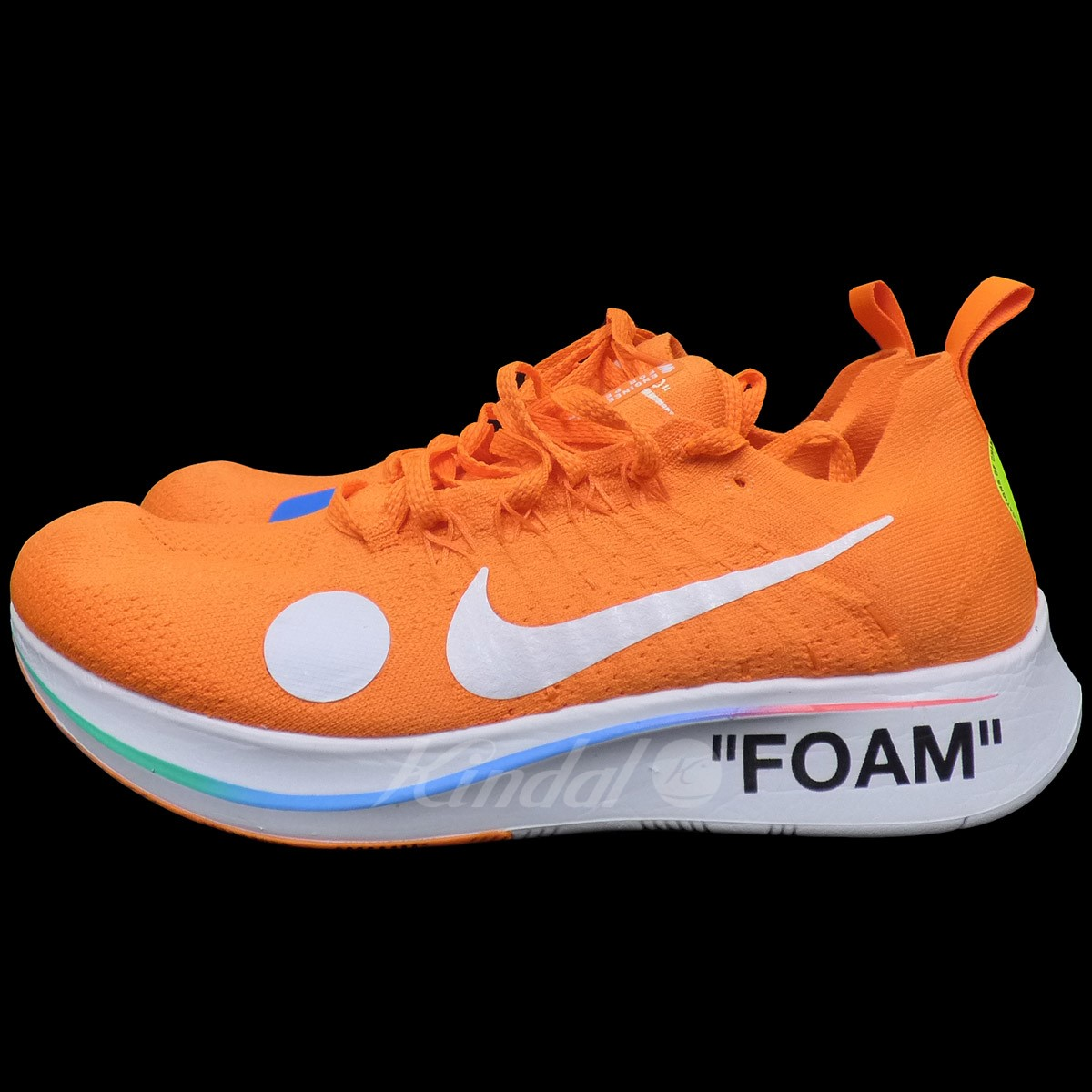 7f2f277cd1144 OFF WHITE X NIKE Zoom Fly Mercurial Flyknit zoom fly fly knit sneakers  orange size  US9(27cm) (off-white Nike)