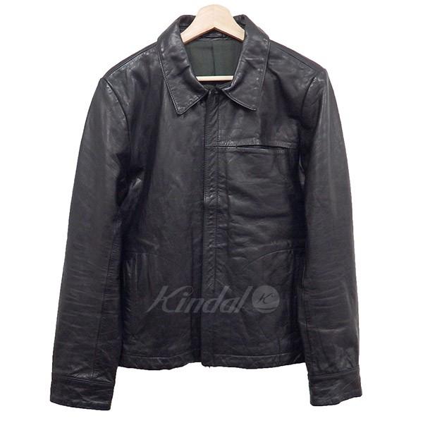 【中古】TMT WAX COW LEATHER BLOUSON レザージャケット 16AW ブラック サイズ:XL 【230219】(ティーエムティー)