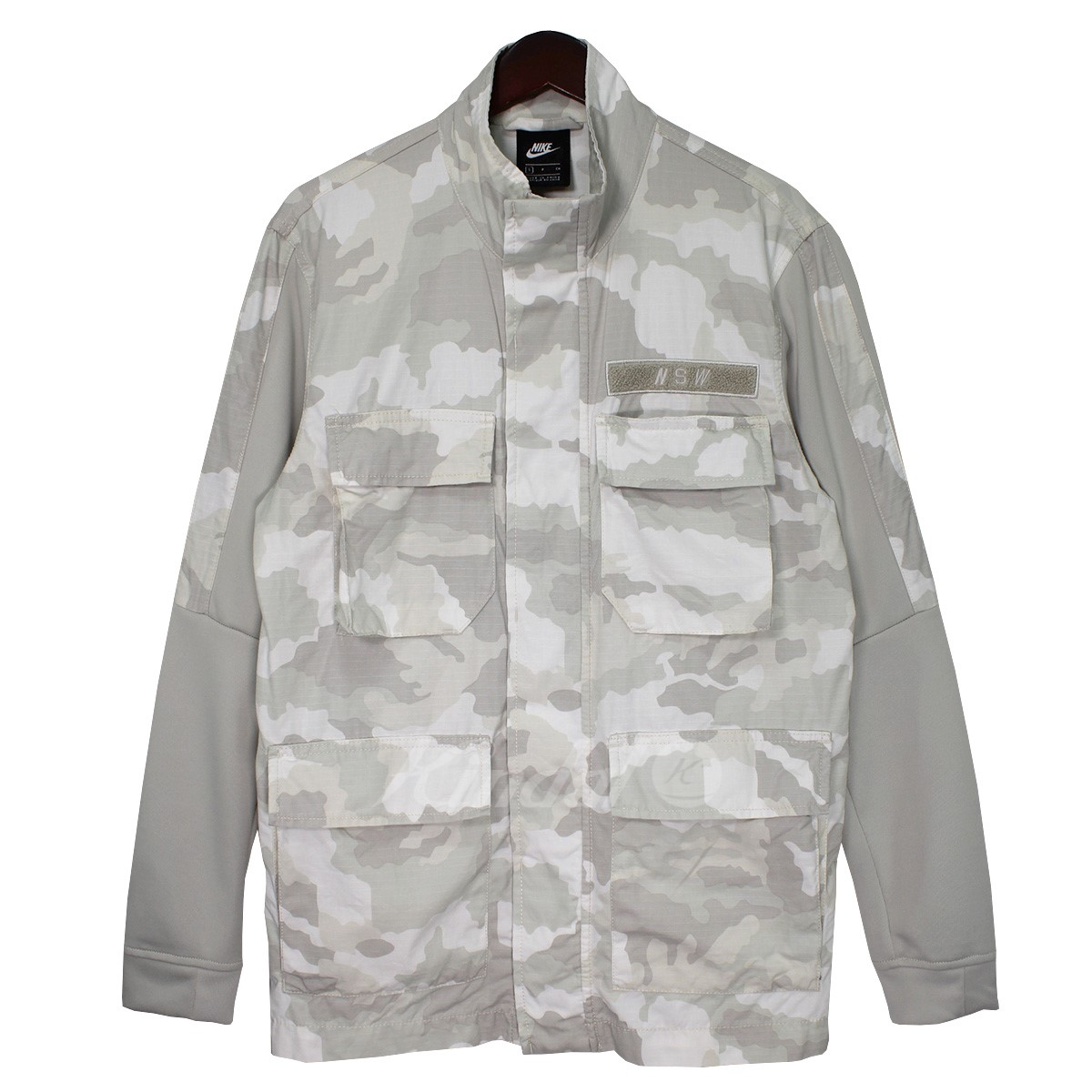 666d08a3cf05 18AW NSW CAMO JACKET sleeve reshuffling camouflage military jacket white X  gray size  S