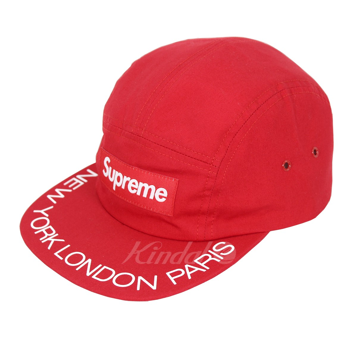 【中古】SUPREME 18SS Visor Print Camp Cap ボックスロゴキャップ 【送料無料】 【000523】 【KJ1645】