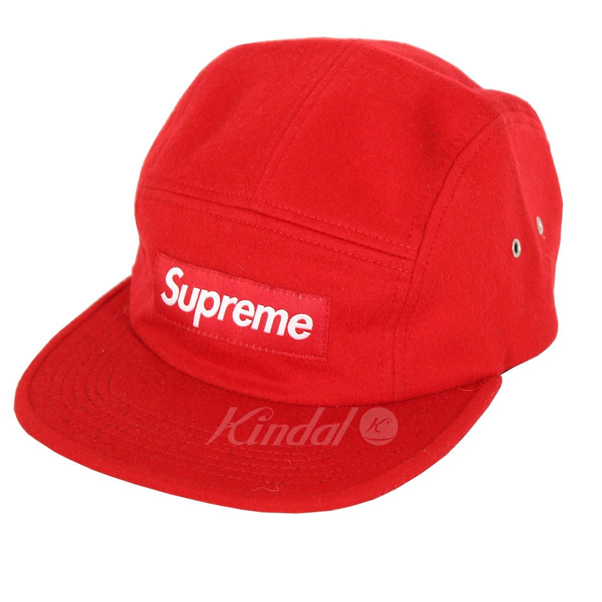 4e3080c8742 kindal  SUPREME 17AW Loro Piana Wool Camp Cap box logo cap red ...