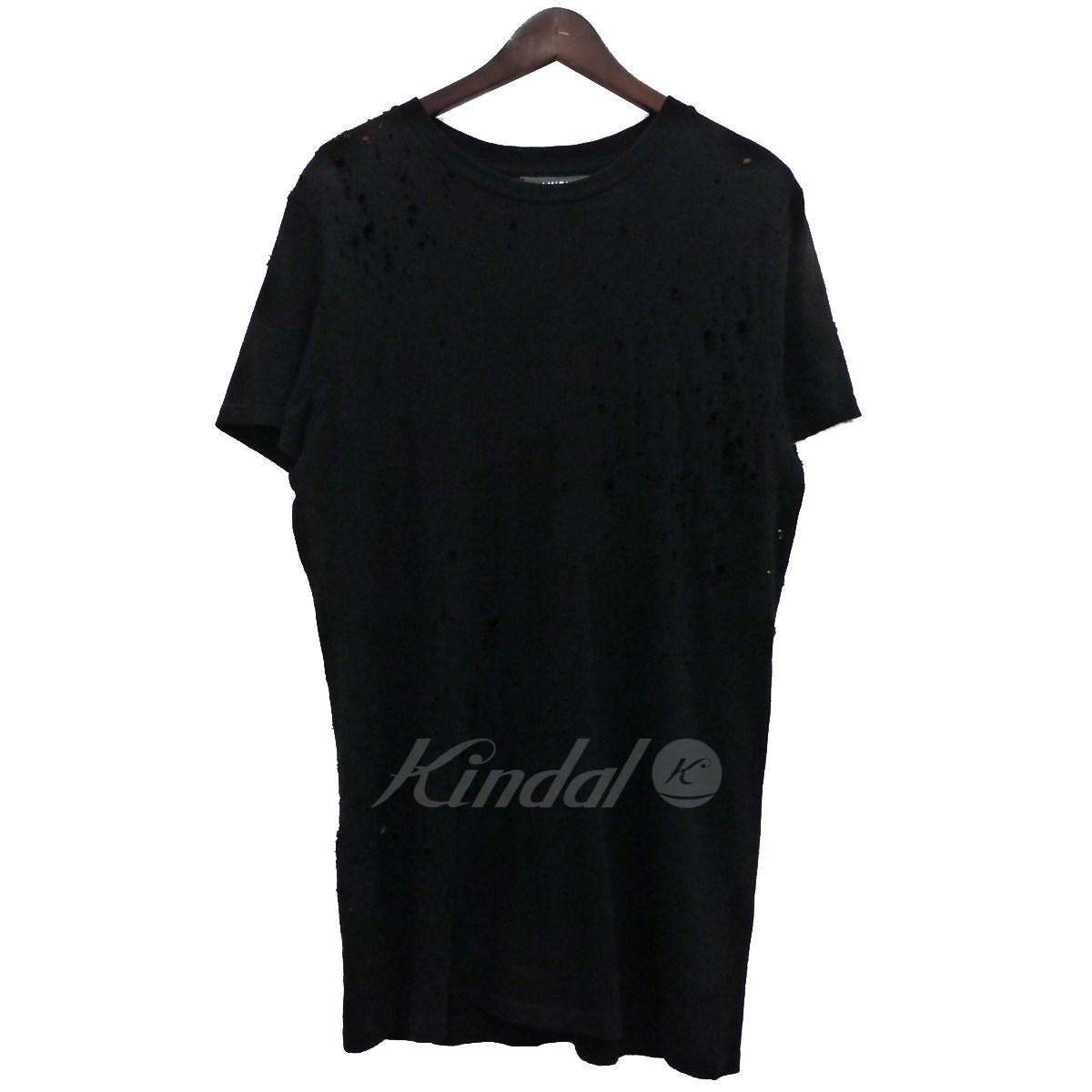 【中古】AMIRI ショットガンダダメージ加工Tシャツ ブラック サイズ:M 【送料無料】 【250219】(アミリ)