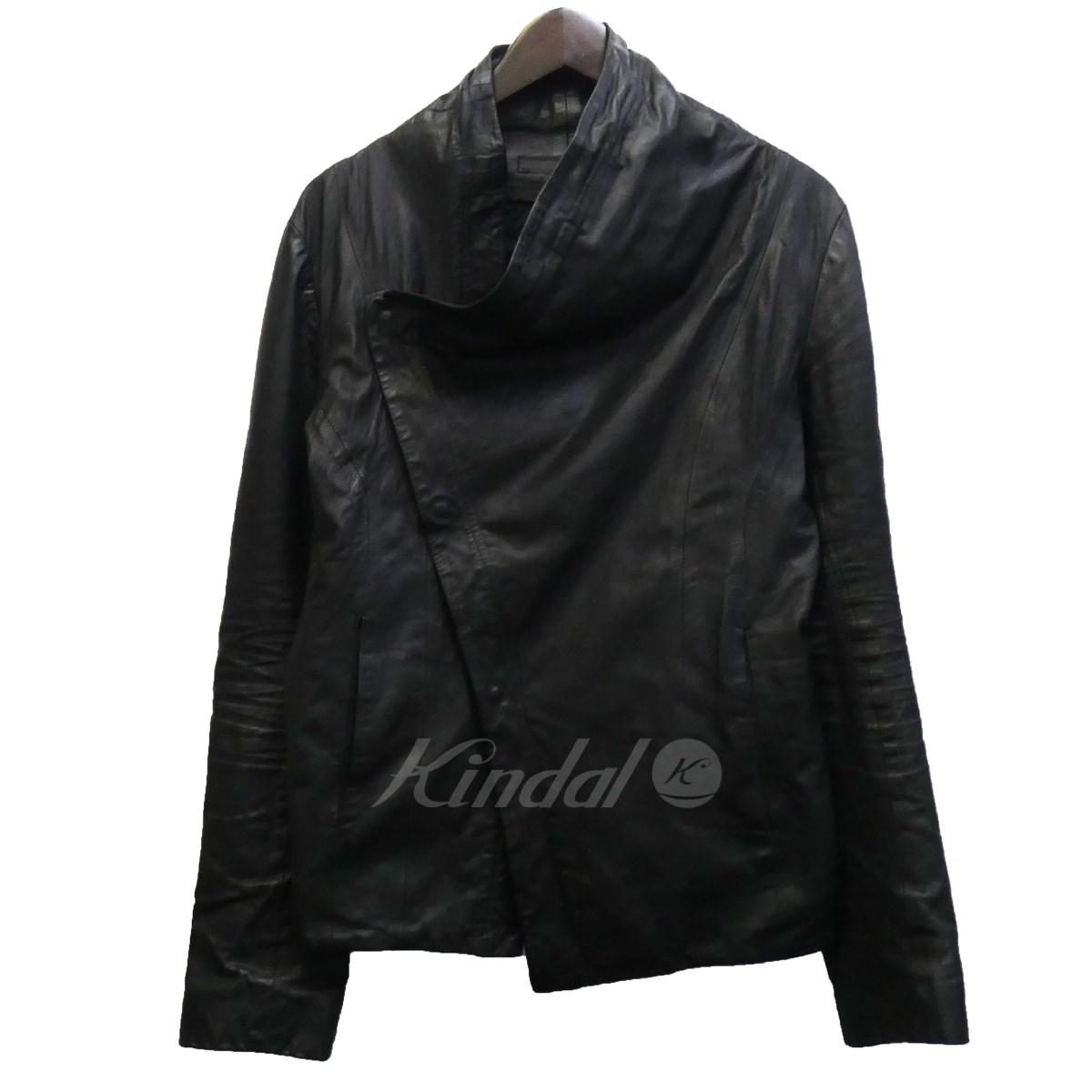 【中古】MA julius 13AW カーフレザージャケット ブラック サイズ:2 【送料無料】 【250219】(エムエー ユリウス)
