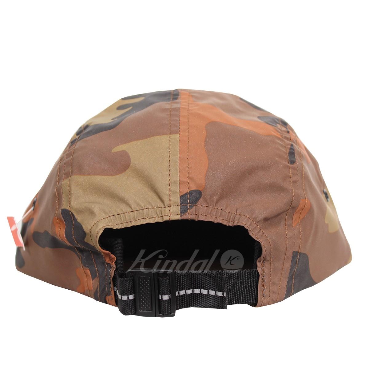 c9a76a2df81 kindal  SUPREME 18AW Reflective Camo Camp Cap box logo cap brown ...