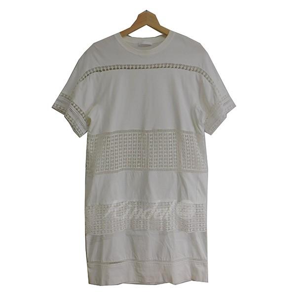 【中古】chloe white wardrobe エンブロイダリーカットソーワンピース ホワイト サイズ:XS 【250219】(クロエ ホワイトワードローブ)