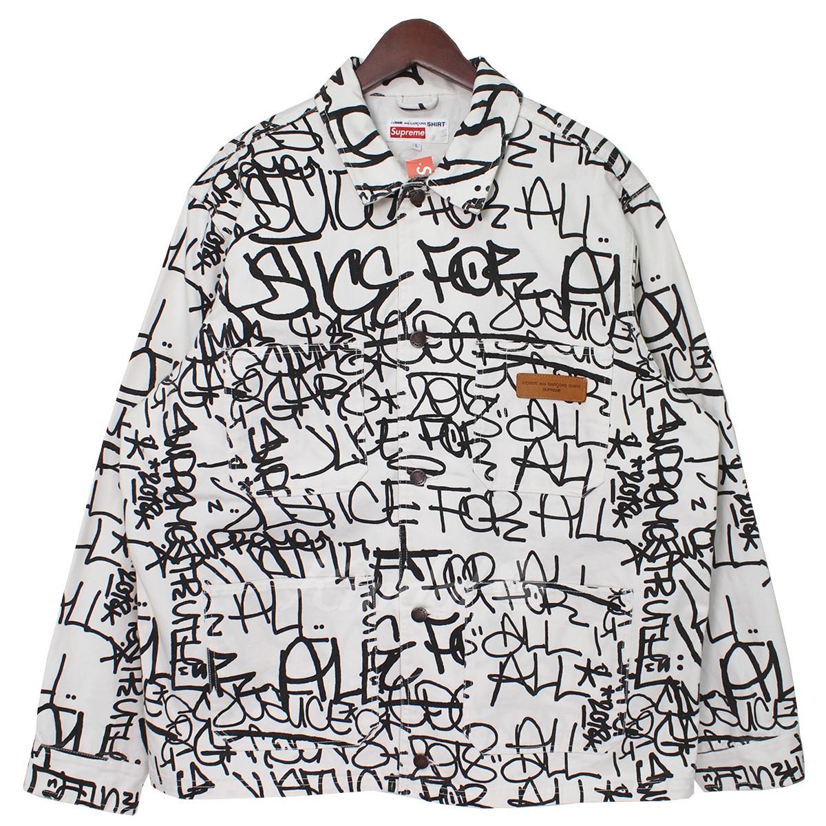 【中古】Supreme × COMME des GARCONS SHIRT 18AW Printed Canvas Chore Coat 総柄キャンバスカバーオール 【送料無料】 【008487】 【KJ1645】