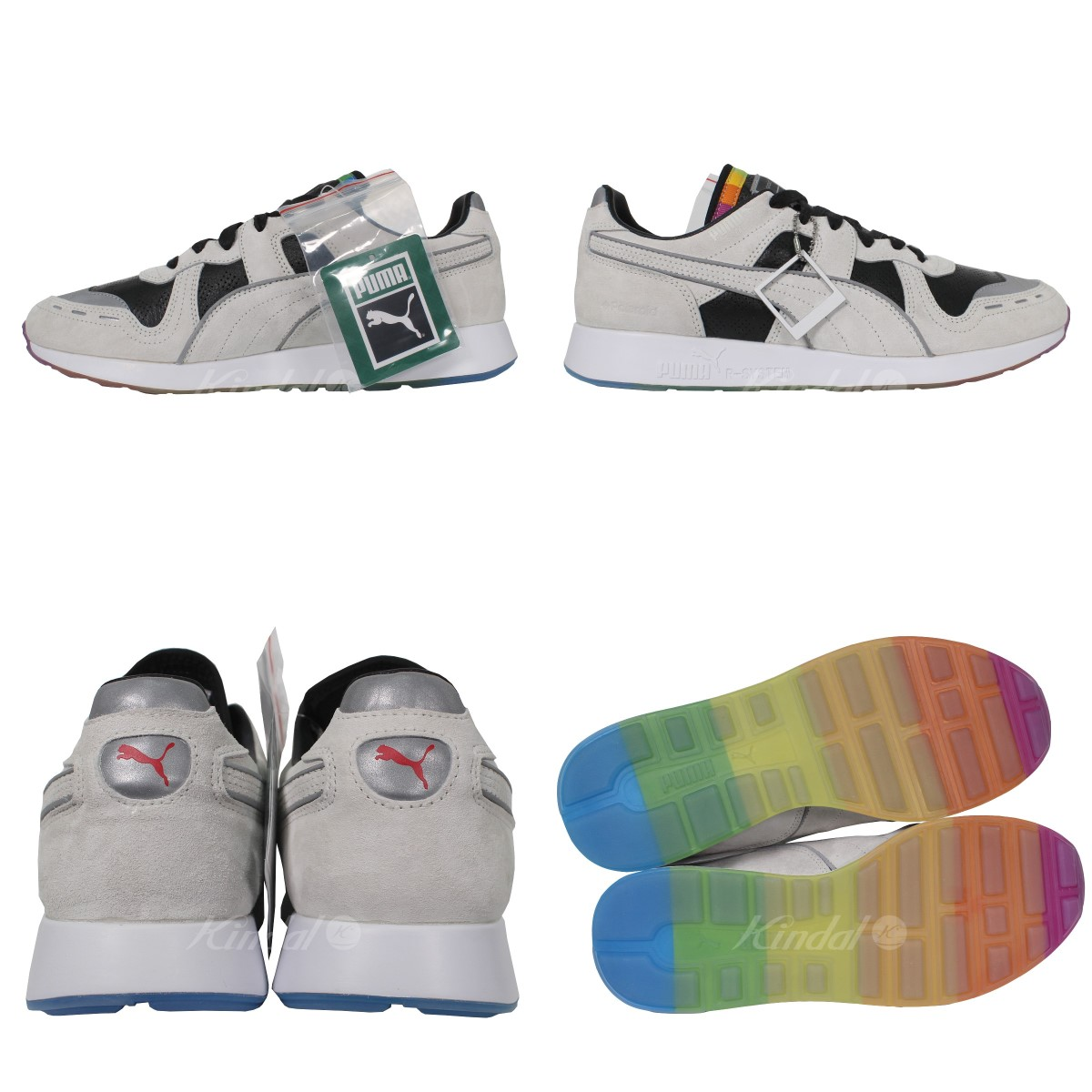 2ef121def16f21 PUMA X Polaroid RS-100 low-frequency cut sneakers gray size  28. 0cm (Puma  X Polaroid)