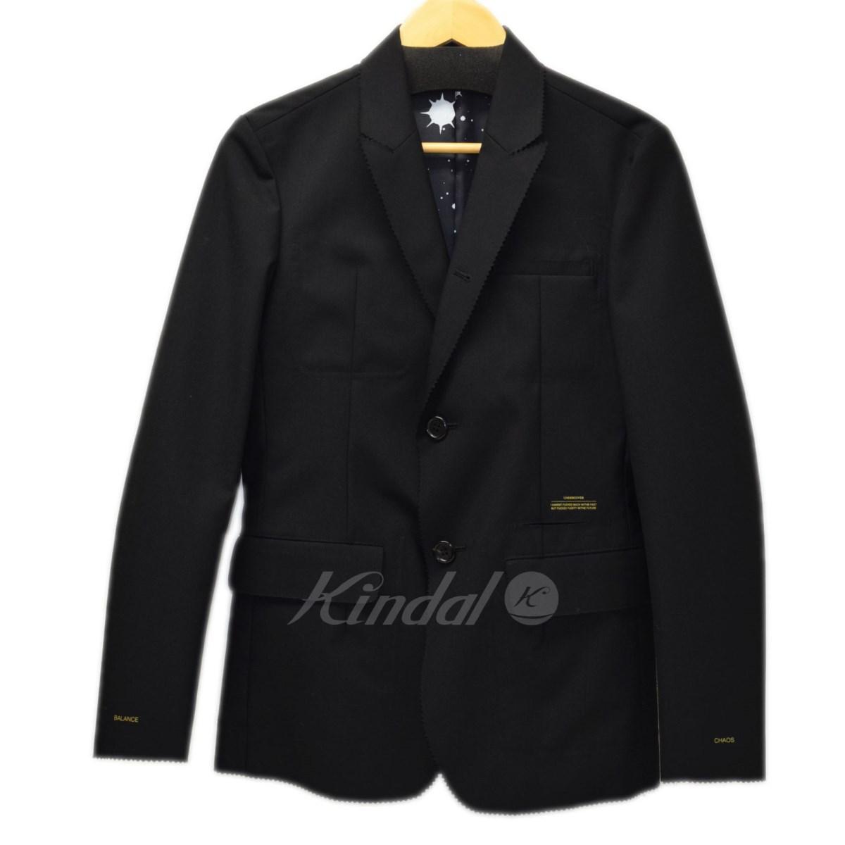【中古】UNDER COVER 2016AW テーラードジャケット ブラック サイズ:1 【送料無料】 【250219】(アンダーカバー)