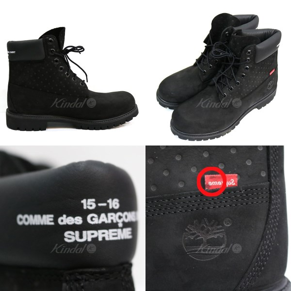 Supreme x Comme des Garcons SHIRT X TIMBERLAND 6Inch Premium Waterproof Boot boots black size: M 9 12 (シュプリーム X コムデギャルソンシャ</p>                     </div>   <!--bof Product URL --> <!--eof Product URL --> <!--bof Quantity Discounts table --> <!--eof Quantity Discounts table --> </div>                        </dd> <dt class=