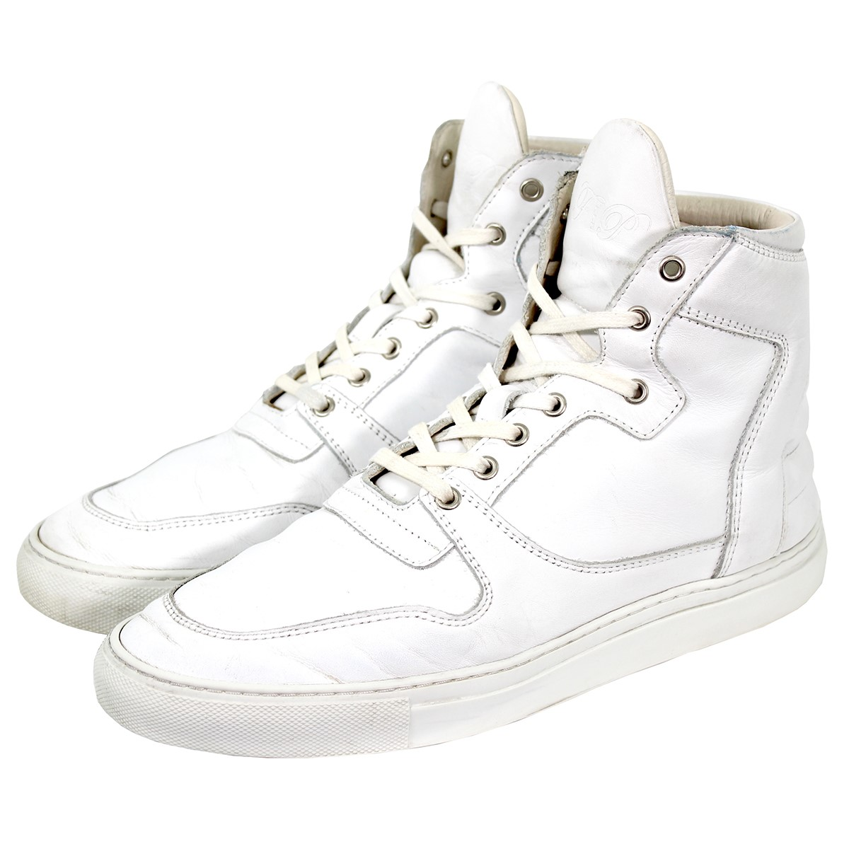 Filling Pieces leather higher frequency elimination sneakers white size: 8  (filling peace)