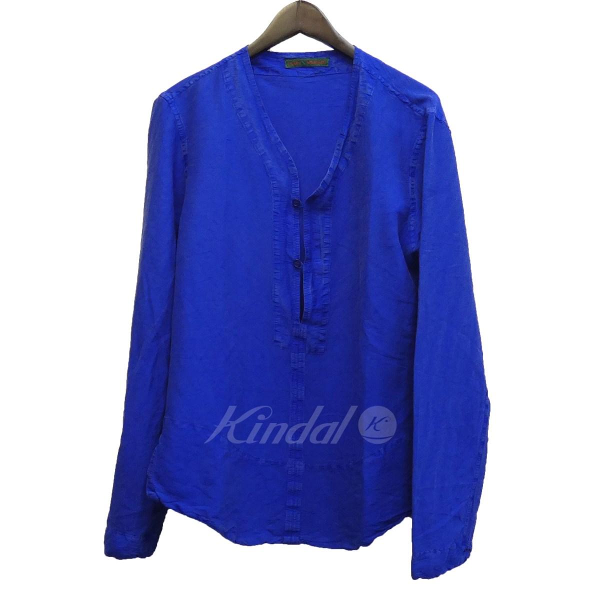 【中古】casey vidalenc シルクオーバーシャツ ブルー サイズ:XS 【270219】(キャセイヴィダレンク)