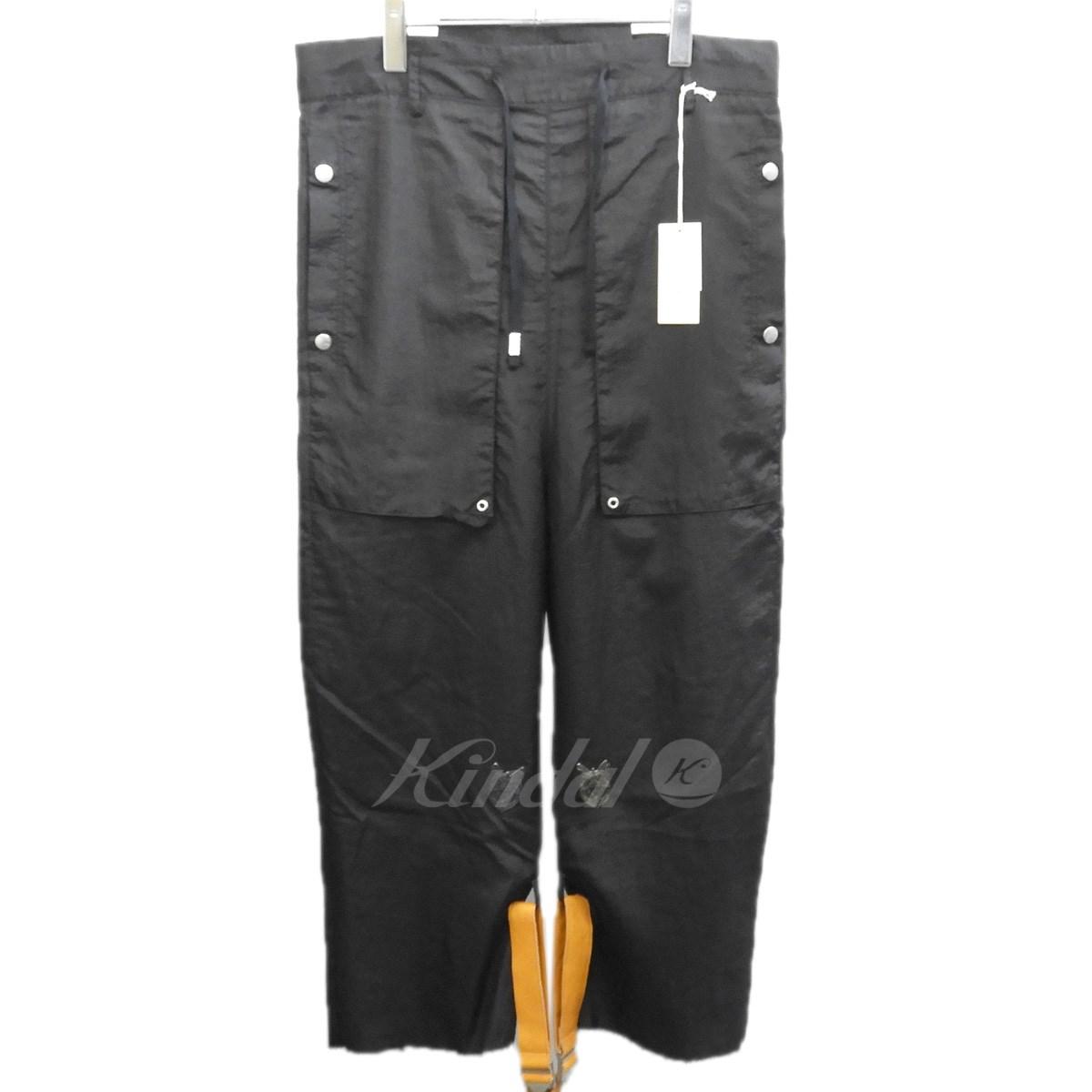 【中古】BED J.W. FORD 2019SS 「Cargo pants ver.3」カーゴパンツ ブラック サイズ:0 【送料無料】 【280219】(ベッドフォード)