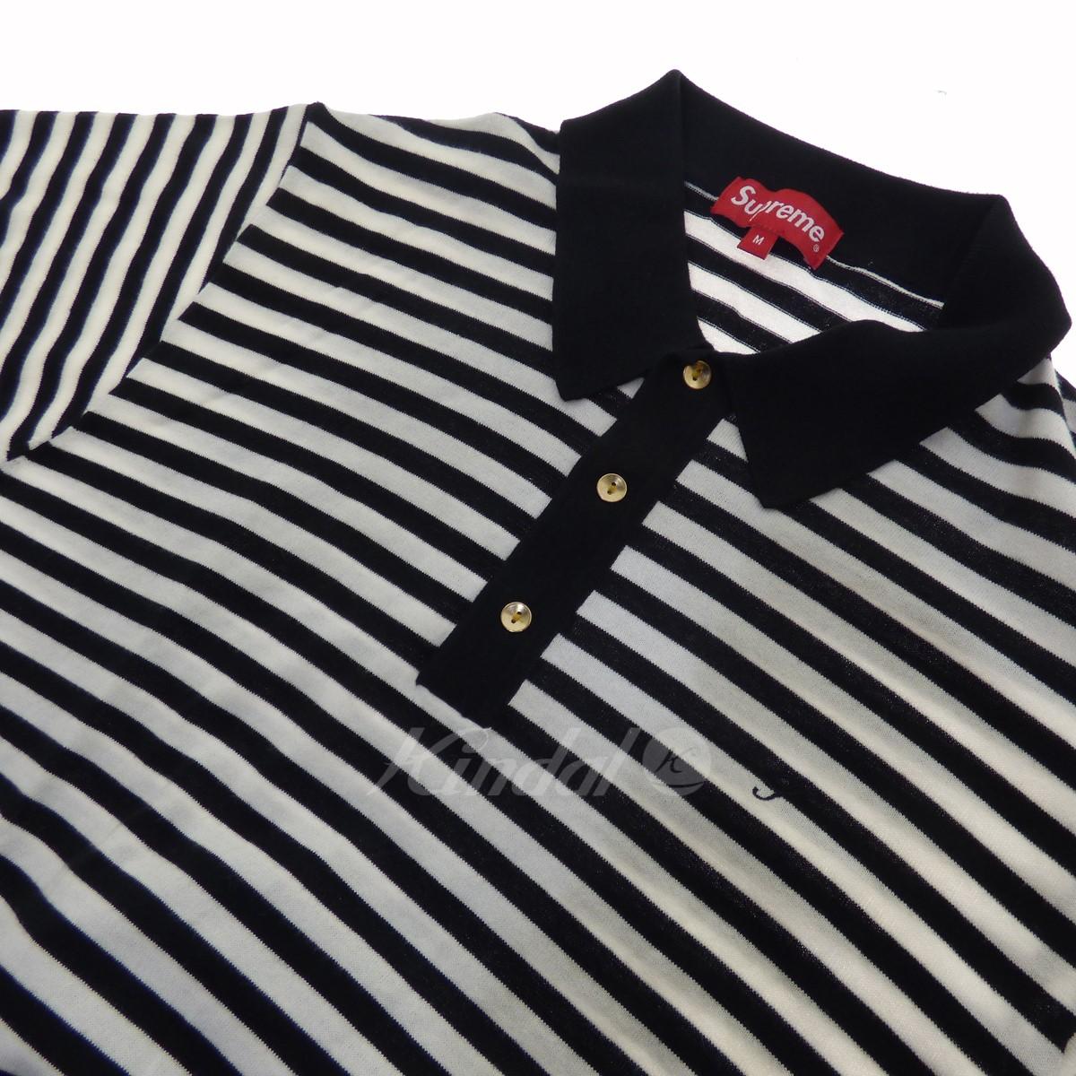 c5ab5149d1 ... SUPREME Striped Knit Polo white X black size: M (シュプリーム) ...