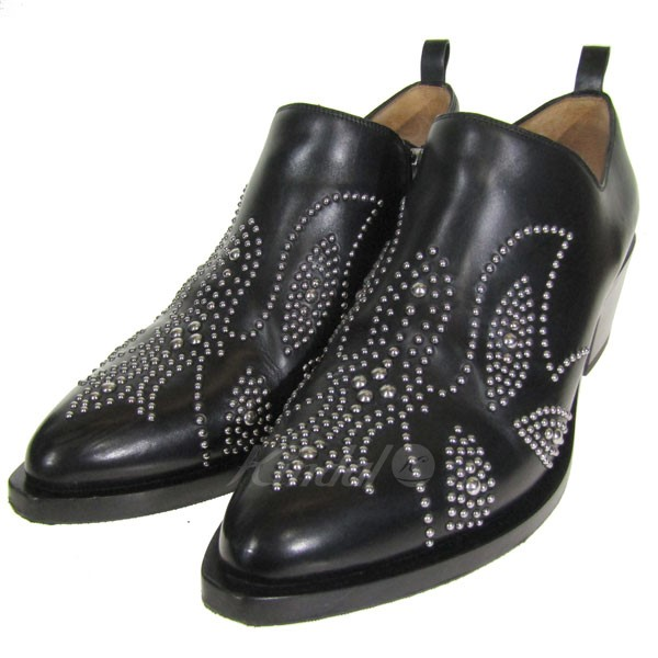 【中古】SARTORE Western low boots サイドジップアンクルブーツ ブラック サイズ:37 1/2 【送料無料】 【280219】(サルトル)