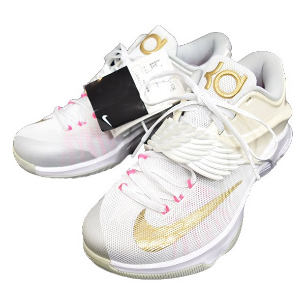 info for 9bcad 47ae6 NIKE KD 7 premium 706858 176 white X pink X clearcole: US 8 (Nike)