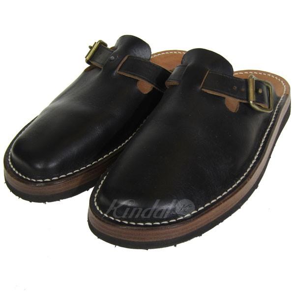 【中古】tokyo sandals ENGINEER SLIP-ON レザーサンダル ブラック サイズ:7 【送料無料】 【280219】(トウキョウサンダル)