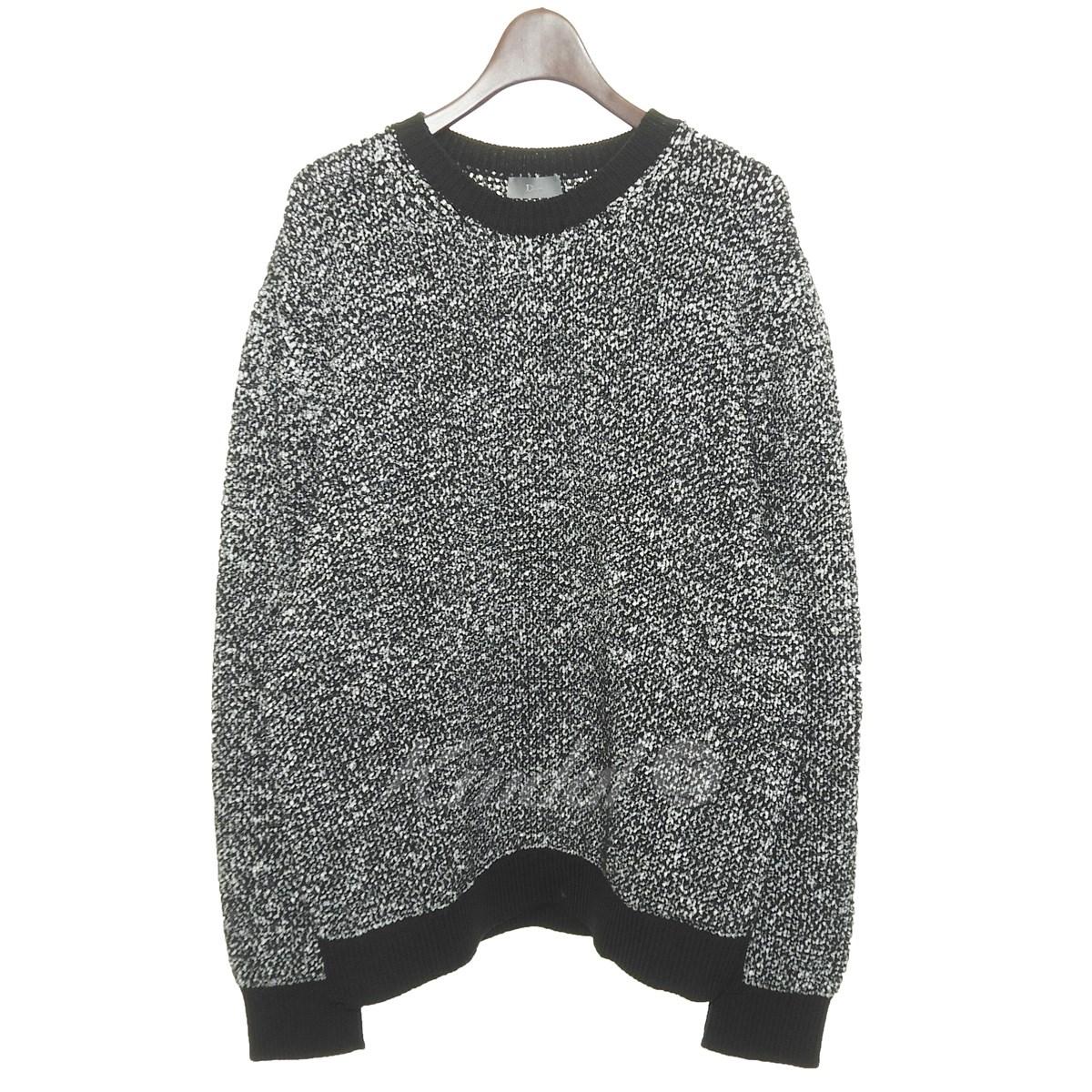 【中古】Dior Homme 17SS コットンミックスセーター ブラック サイズ:L 【010319】(ディオールオム)
